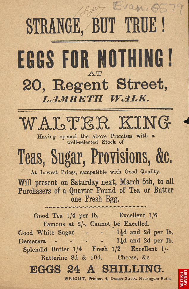 Advert for Walter King, grocer 6579